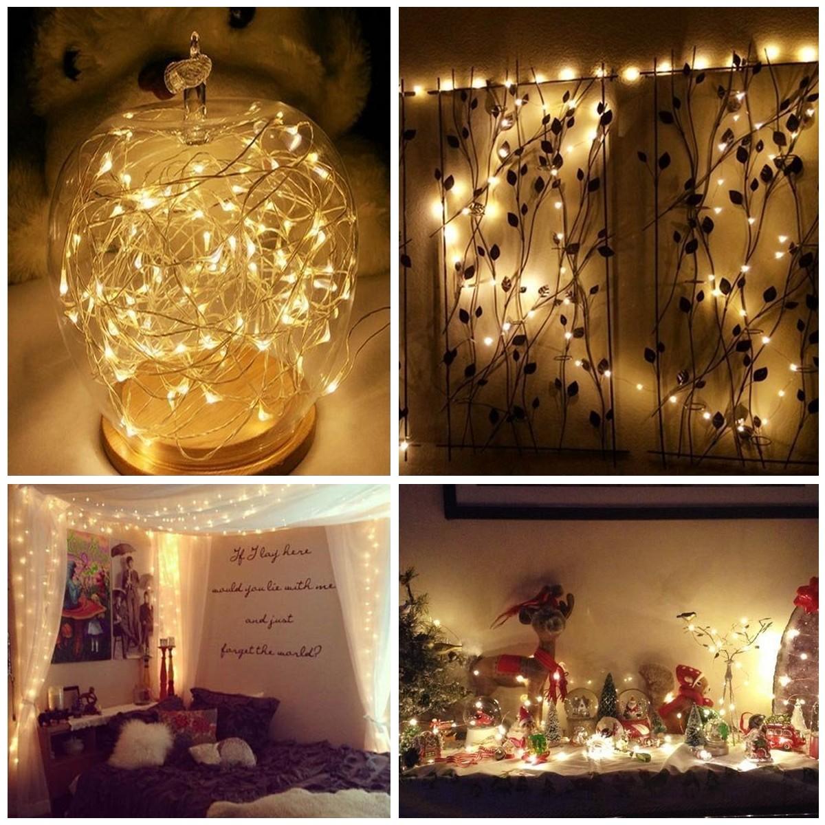 Luces led calidas rbol decorativo de cm con nieve luces - Luces led calidas ...