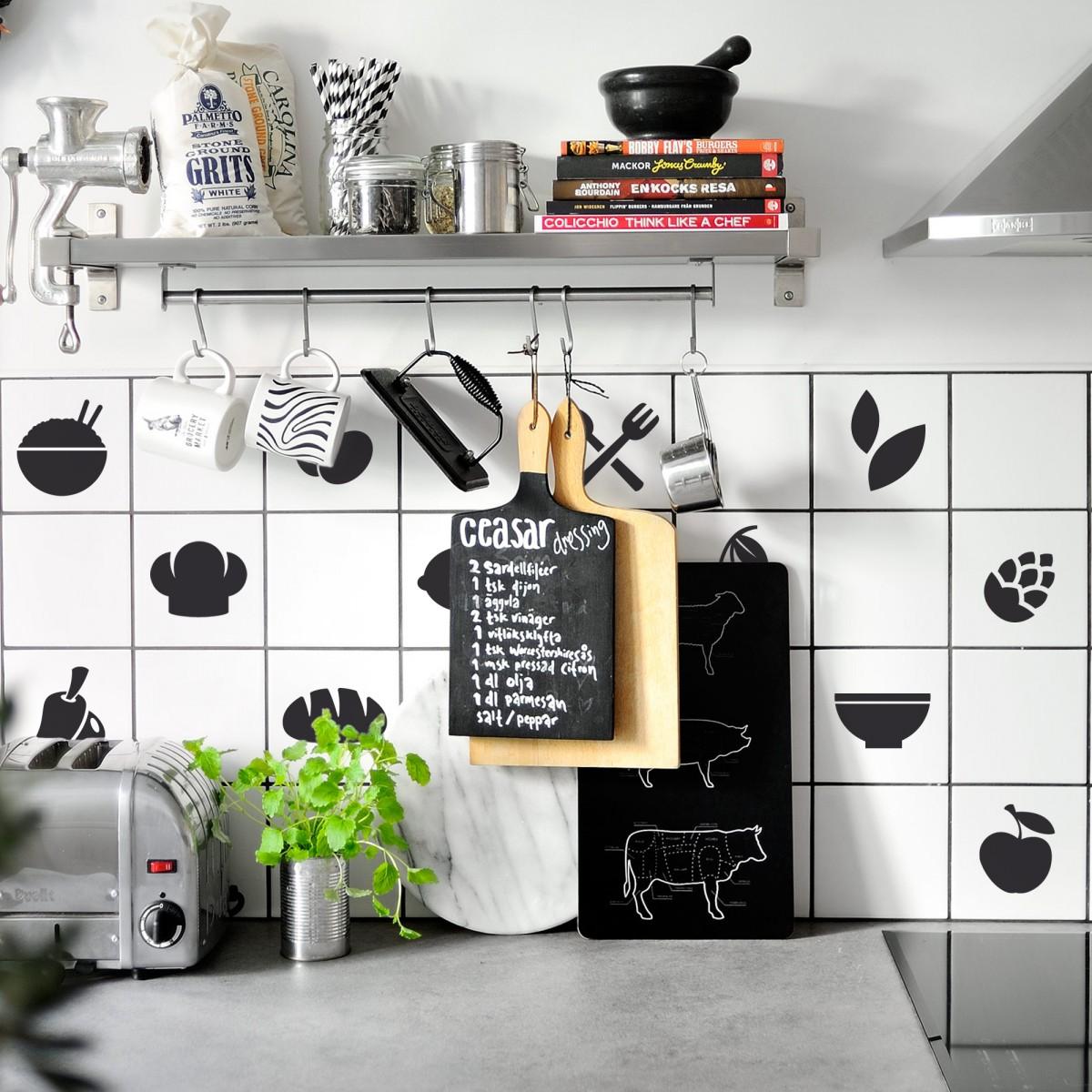 Pack de vinilo azulejos para la cocina - Vinilo para azulejos ...