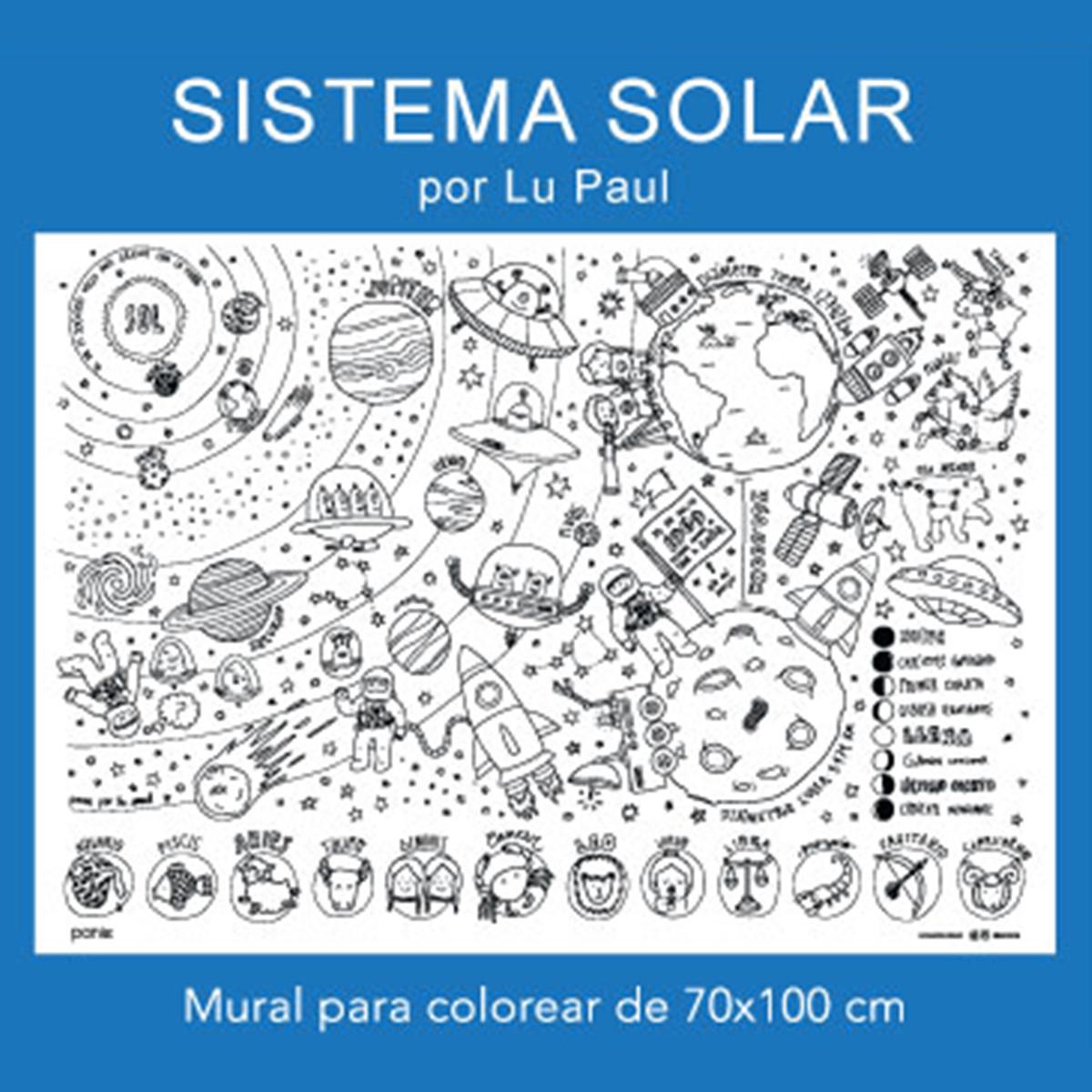Gorsh.net | Mural para colorear Sistema Solar